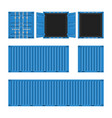 cargo container set vector image