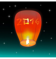 Chinese lantern 2016 vector image