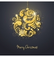 Christmas New Year greeting card with vector image vector image