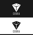 cobra logo head snake with tongue out modern vector image vector image