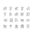 coffee shop line icons signs set outline vector image vector image