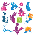 collection of spa and beauty symbols vector image vector image