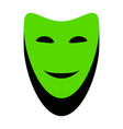comedy theatrical masks green 3d icon vector image vector image