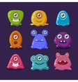 Cute cartoon jelly monsters vector image vector image