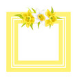 decorative frame for photo or text spring flowers vector image