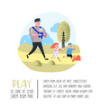 family outdoor activity poster banner walking vector image vector image