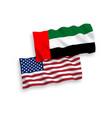 flags united arab emirates and america