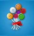 flower button - abstract vector image