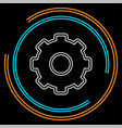 gears settings icon - cogwheel gear mechanism vector image