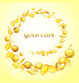 gold coins money splatter background vector image vector image