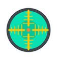 green gun aim icon flat style vector image vector image