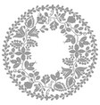 grey and white laurel wreath frame isolated vector image