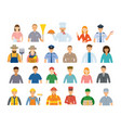 group people various professions and vector image