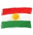Grunge Kurdistan flag vector image vector image