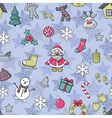 Happy New Year and Merry Christmas pattern vector image vector image