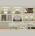 hotel interior set vector image