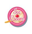 ice cream sticker vector image vector image