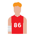 isolated male athlete avatar vector image