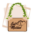 just married cartoon vector image vector image