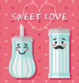 loving couple of sugar bowl vector image