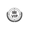 luxury badge symbol and badge with crown and vector image vector image