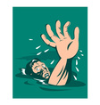 Man Reaching for Help Drowning