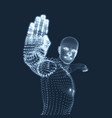 man with hand up to stop human showing stop vector image vector image