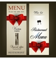 Menu design for Restaurant or Cafe Vintage vector image