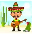Mexican hat in a sombrero vector image vector image