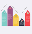 Modern arrow info graphics element Infographics vector image