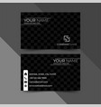 modern black business card design template vector image vector image