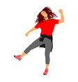 modern style dancer girl sexy hip hop lady vector image vector image
