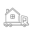 motorhome vehicle line icon vector image vector image
