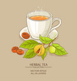 mug of nutmeg tea vector image vector image