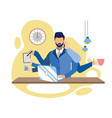 multitasking at work metaphor vector image
