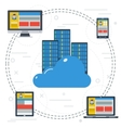 Online cloud storage to all devices vector image