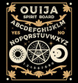 ouija board with pentagram occultism set vector image
