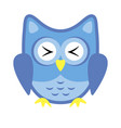 owl stylized icon blue colors vector image vector image