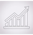 pictograph graph icon vector image vector image