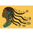 Portrait of African girl with dreadlocks vector image vector image