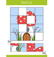 puzzle for kids vector image vector image