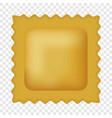 quadretti pasta mockup realistic style vector image vector image