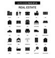 real estate glyph icon set vector image