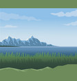 realistic landscape background of far snowy vector image vector image