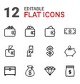 rich icons vector image vector image