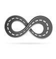 Road in the shape of an infinity sign vector image vector image