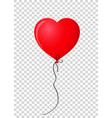 ruby red realistic heart shaped helium balloon vector image vector image