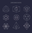 sacred geometry non expanded outline vector image vector image