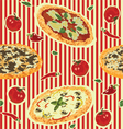 seamless background with pizza vector image