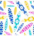 seamless pattern with image surfboards design vector image vector image